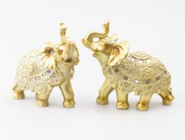 К8902 Слон декоративный 15 см (полистоун, 2 вида)