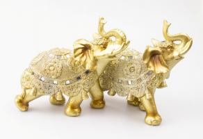 К8903 Слон декоративный 17 см (полистоун, 2 вида)
