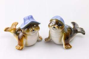 К8986 Морской котик (керамика, 2 вида) 10*10*2,5 см(2)
