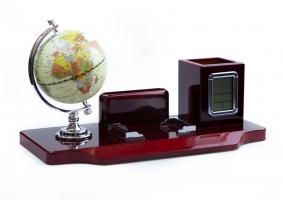 К9153 Настольный набор руководителя с глобусом 35*17*19,5 см