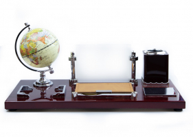 К9155 Настольный набор руководителя с глобусом 42*20*19,5 см