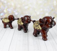 К8969 Набор из 3 слонов 21;21;16 см (полистоун)