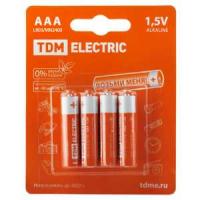 Элемент питания TDM LR6 AA Alkaline 1,5V BP-4