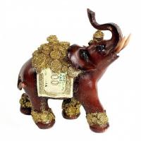 EPW 31578 слон с деньгами 15,2*7*15,2см