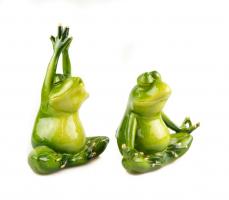 К9034 Декоративная лягушка (2) 14*12 см