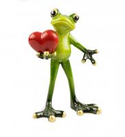 К6061 Лягушка с сердцем 15*12 см