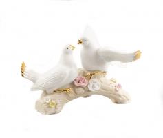К9105 Фарфоровые голуби на ветке 30*17 см
