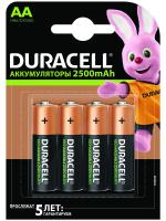 аккумулятор Duracell HR6-4BL 2400mAh/2500mAh предзаряженные