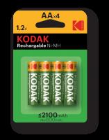 Элемент питания  Kodak HR6-4BL 2100mAh Pre-Charged [KAAHRP-4]