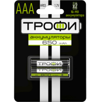 Аккумуляторная батарея  Трофи HR03-2BL 650 mAh