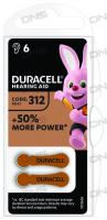 Батарейки  Duracell ZA312-6BL