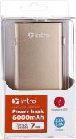 USB зарядки для мобильных устройств_25 напр PB06S  Intro Power Bank 6000 mAh, Silver