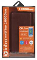 USB зарядки для мобильных устройств_25 напр PB1001  Intro Power Bank 10 000 mAh, brown leather