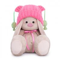SidM-354 Зайка Ми в розовой шапочке с помпонами (большой)