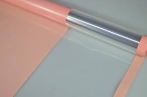 Плёнка 0,58*10м глянцевая с окошком 50мкм Персиковый