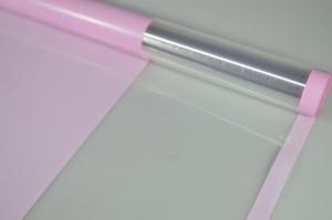 Плёнка 0,58*10м глянцевая с окошком 50мкм Грязно-розовый