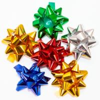 Бант-звезда 2,5 см на липучке металл