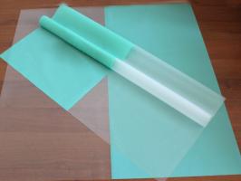 Пленка матовая однотонная Тиффани/прозрачная 60*60см 1/20 листов