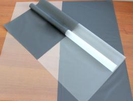 Пленка матовая однотонная Серая/прозрачная 60*60см 1/20 листов