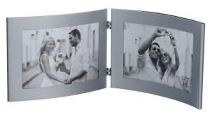 Фоторамка  Image Art 6015/2-4S двойная 10*15( серебро)