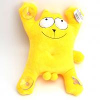 Игрушка Мягконабивная Кот на липучках на стекло(желтый) 29 см L24