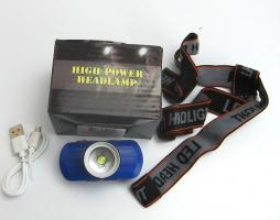 873 Фонарь налобный аккамул USB(3 режима)