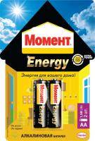 2098780 Момент Energy алкалиновые батарейки AA, БЛ-2 шт.