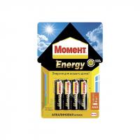 2098785 Момент Energy алкалиновые батарейки AAA, БЛ-4 шт.