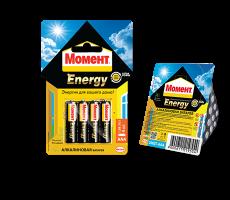 2098784 Момент Energy алкалиновые батарейки AAA, БЛ-2 шт.