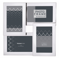 "Innova PI08005 Ф/рамка 4 фото 10*15 ""Multi Opening SS"" серебро, металл"