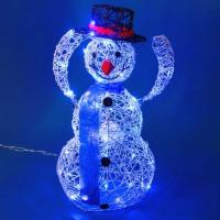 ST-2560 Снеговик белый c подсветкой 45*26*78см