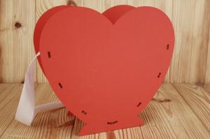 ПУ657-02-0606 Подарочная упаковка-сердце с прямыми стенками на подставке, (25*10*23) МДФ 3мм