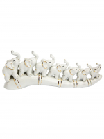 К30214 Набор Семь слонов на бивне (фарфор) 33*12,6 см