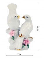 К30197 Фигурка декоративная Птички (фарфор) 12,5*8 см