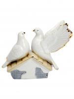 К30213 Деоративная фигурка Пара голубков 11*13*7 см(фарфор)