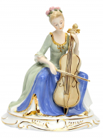 К30171 Дама с виоланчелью 25 см (фарфор)