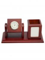К30046 Настольный набор с часами 24*13 см