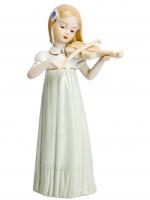 К30229 Статуэтка Девушка с скрипкой 30*14,5*9 см (фарфор)