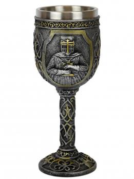 QA-83917 Кубок из полистоуна с колбой из нержавеющей стали