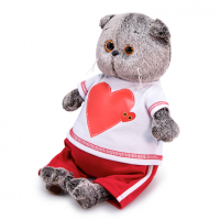 Ks19-139 Басик в футболке с сердцем