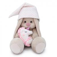SidM-305 Зайка Ми с розовой подушкой - единорогом (большой)