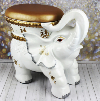 К8963 слон-стул с местом для хранения 46*55*30 (белый)см