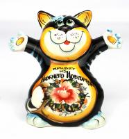 Кот цветной с надписью, 13,5 см, 7020