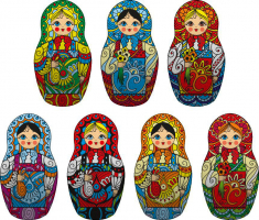 02-34-3KR-251 (10) МАГНИТ МАТРЕШКИ