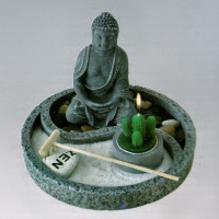 M324-7 Садик Дзен d.18см Будда, камень