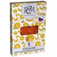 Свеча Чайная аромат 6 шт в уп Апельсин