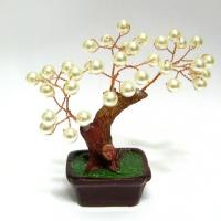 V022 Дерево с жемчугом 14 см в ассорт.