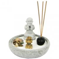 M326-1 Садик Дзен Будда, 13см, искусственный камень