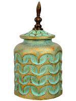 К30697 Декоративная ваза с крышкой 29*15