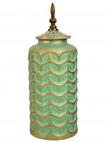 К30698 Декоративная ваза с крышкой 40*15